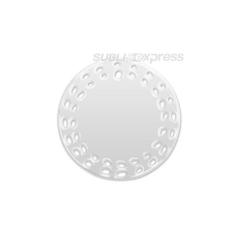 7,5 cm-es átmérőjű szublimációs kerámiacsempe furatokkal kör alakú