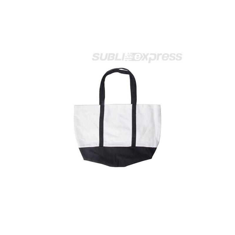 48 x 35 cm-es strand táska fekete füllel