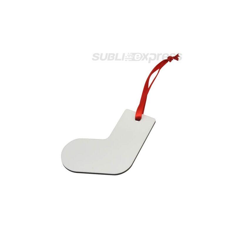 Szublimációs MDF karácsonyfadísz zokni alakú
