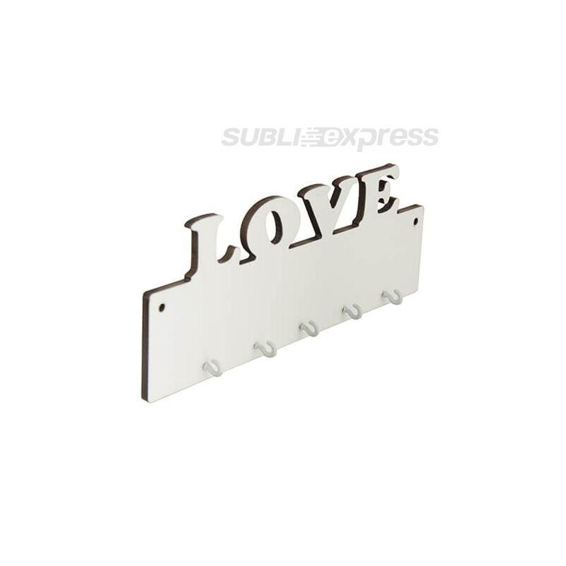Szublimációs MDF keret kulcsakasztó LOVE felirattal