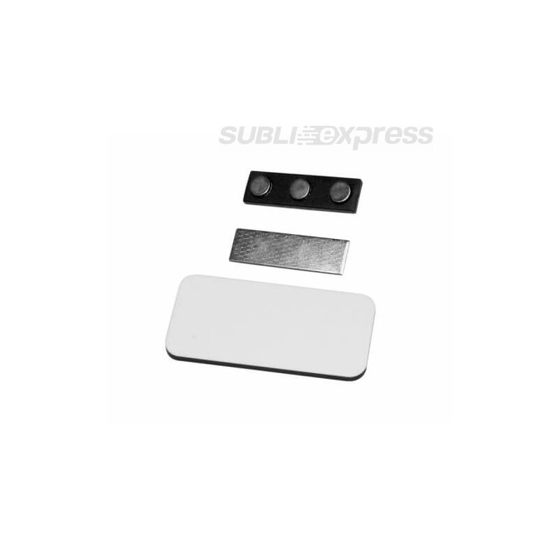 7,6 x 3,8 cm-es szögletes szublimációs MDF fényképes névkártya