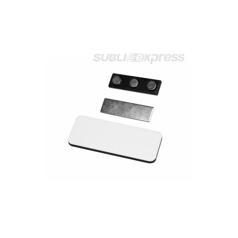 7,6 x 3,1 cm-es szögletes szublimációs MDF fényképes névkártya
