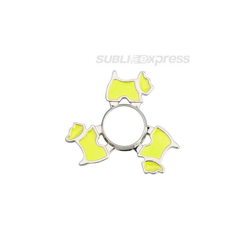 Szublimációs Fém spinner kutya alakú zöld