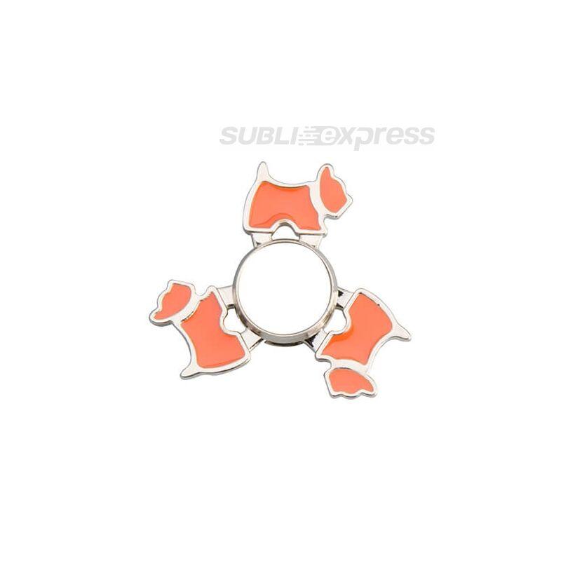 Szublimációs Fém spinner kutya alakú narancssárga