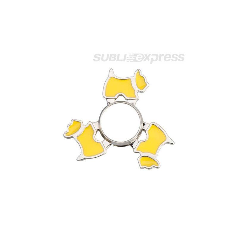 Szublimációs Fém spinner kutya alakú sárga