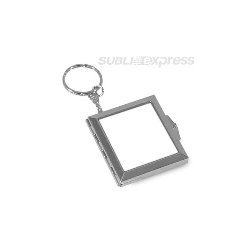 Szublimációs kulcstartó szögletes tükrös