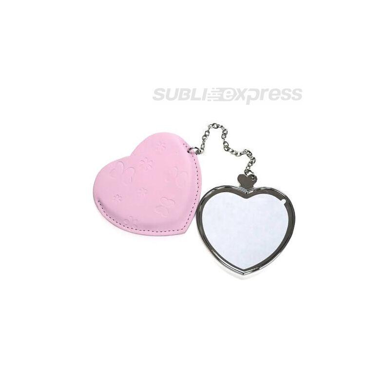 Szublimációs tükör szív alakú pink collection