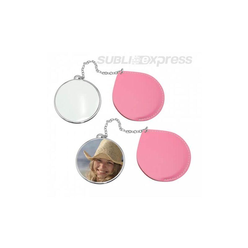 Szublimációs tükör kör alakú pink collection