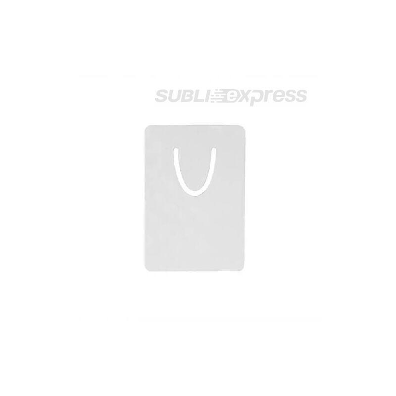 Szublimációs fém könyvjelző ezüst színű kicsi