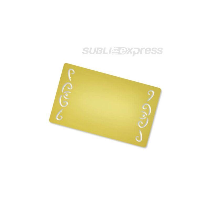 Szublimációs fém névjegykártya (10 darab)