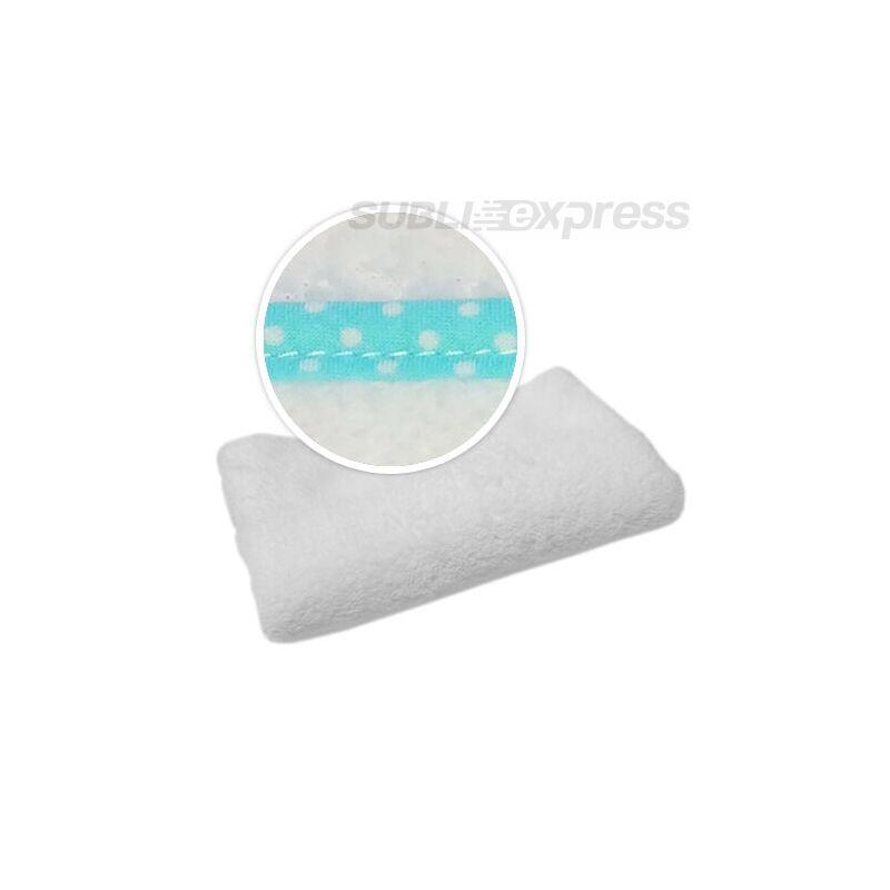 Szublimációs takaró türkiz fehér polka pöttyös szegéllyel