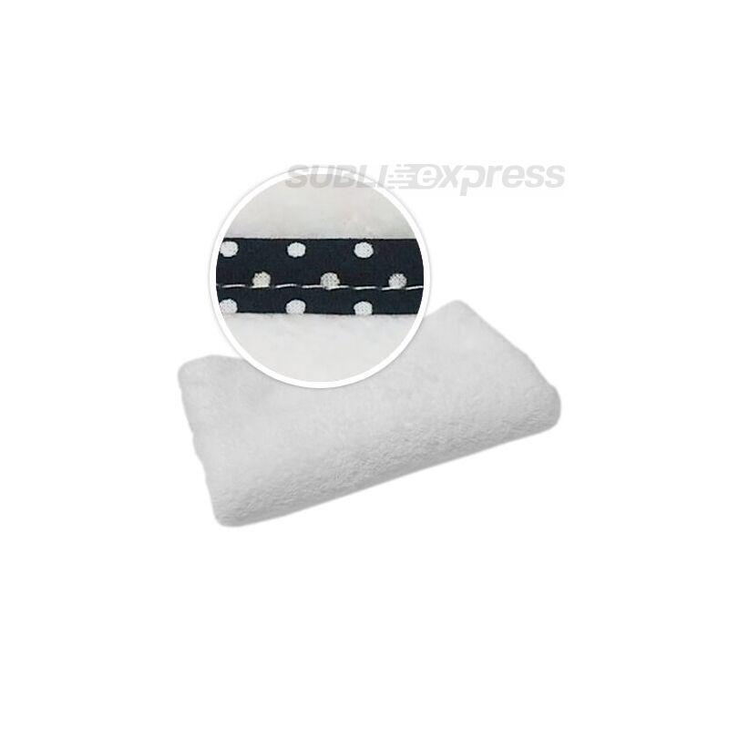 Szublimációs takaró fekete polka pöttyös szegéllyel
