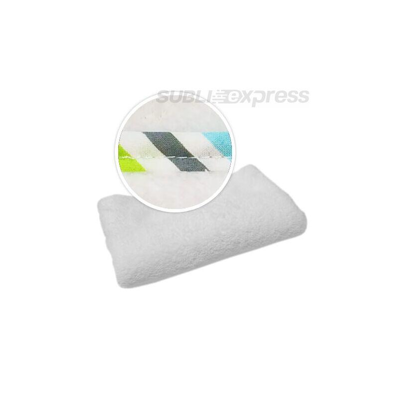 Szublimációs takaró zöld szürke türkiz csíkos szegéllyel
