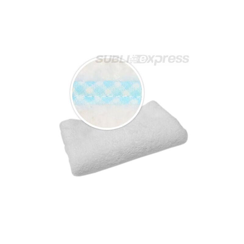 Szublimációs takaró kék kockás szegéllyel
