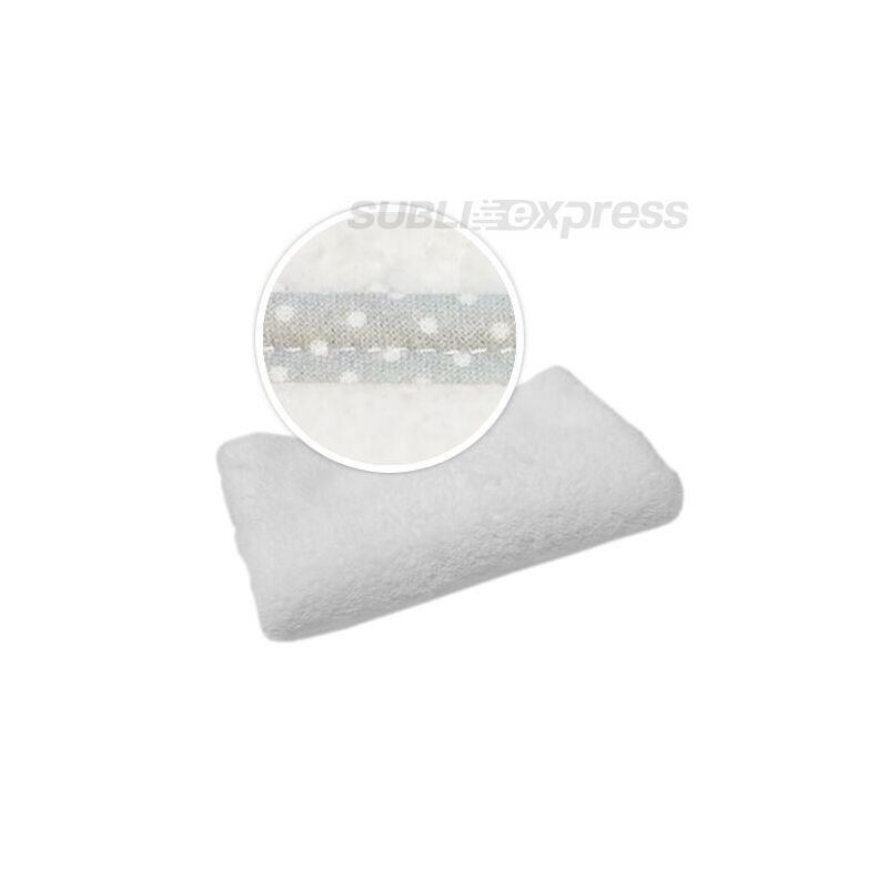 Szublimációs takaró szürke fehér polka pöttyös szegéllyel