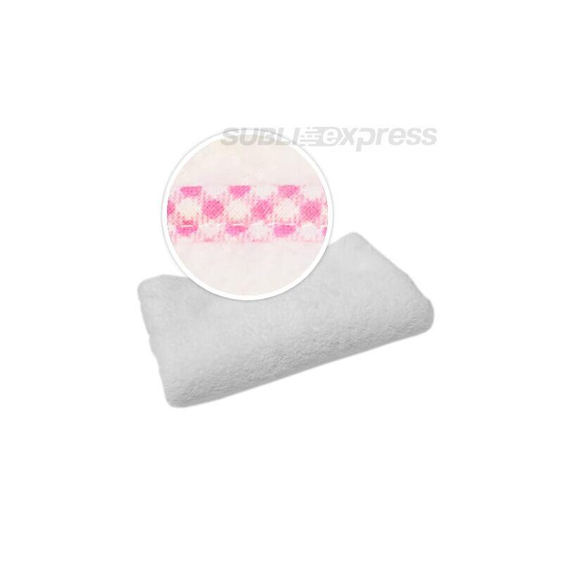 Szublimációs takaró rózsaszín kockás szegéllyel