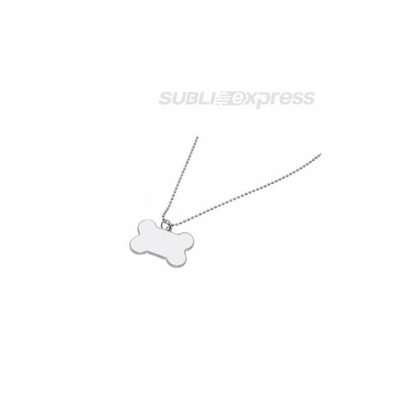 Fémszíjas nyaklánc csont alakú kutyabilétával