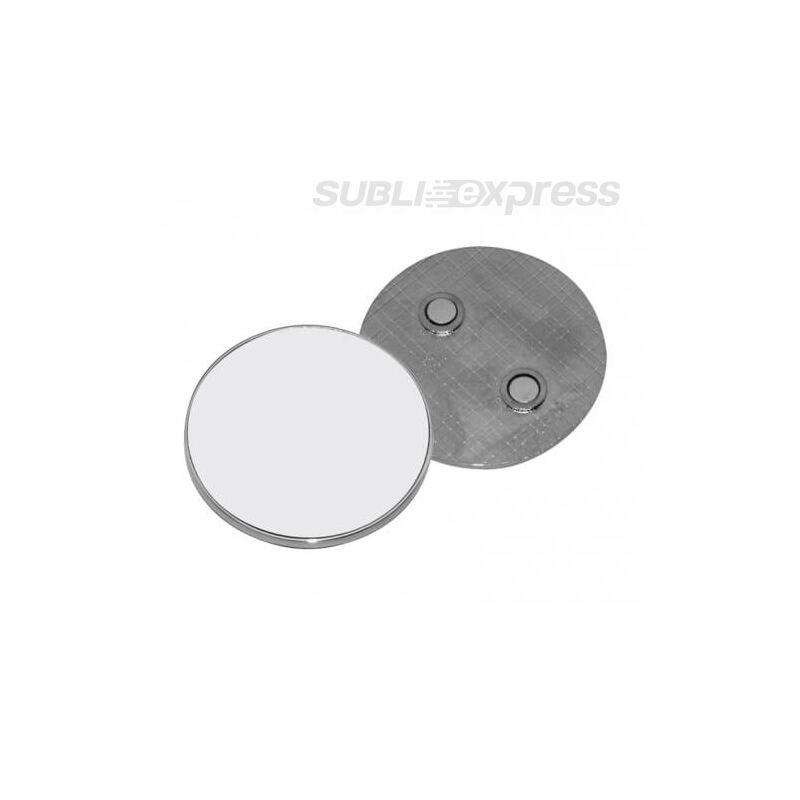 5 cm átmérőjű szublimációs fém hűtőmágnes kör alakú