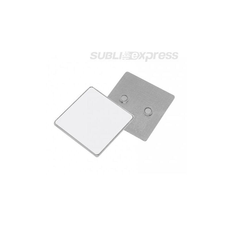 5,5 x 5,5 cm-es szublimációs fém hűtőmágnes négyzet alakú