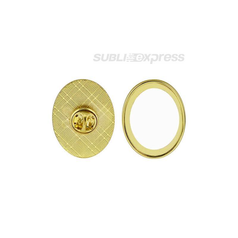 Szublimációs ovális kitűző alapok arany színű