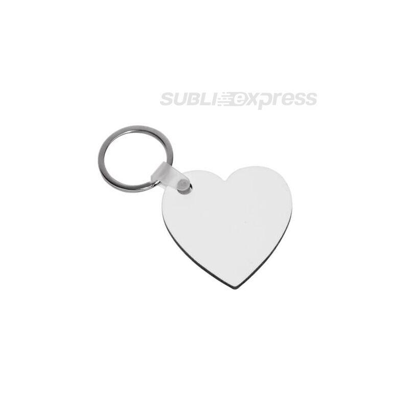Szublimációs MDF kulcstartó szív alakú