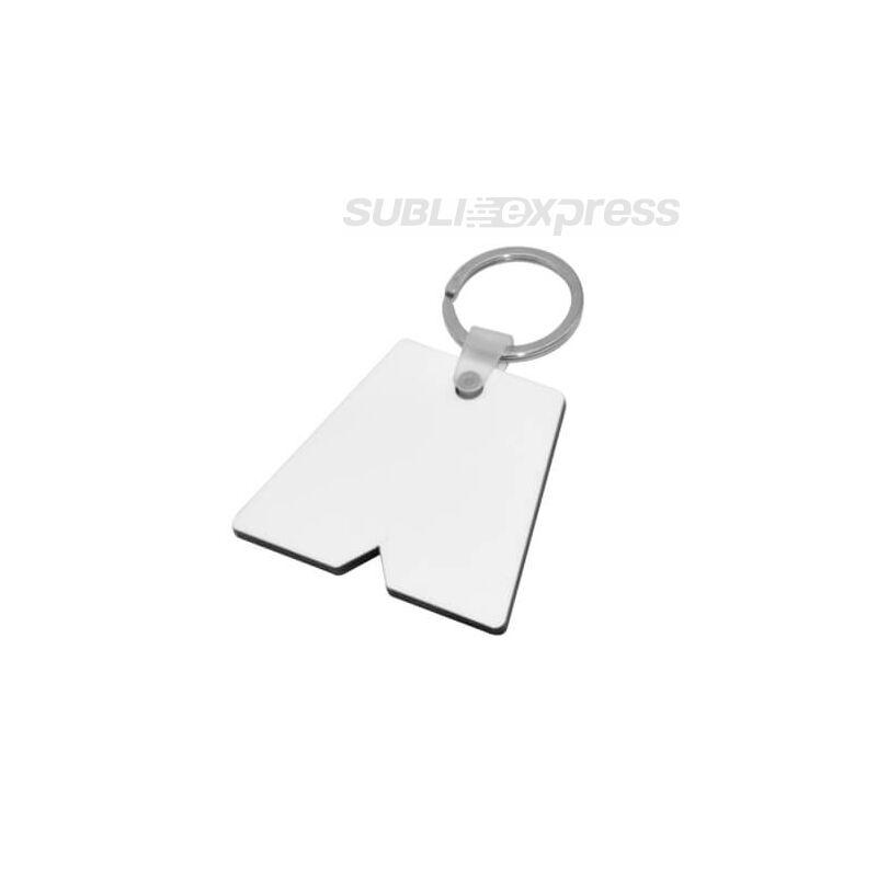Szublimációs MDF kulcstartó rövidnadrág alakú