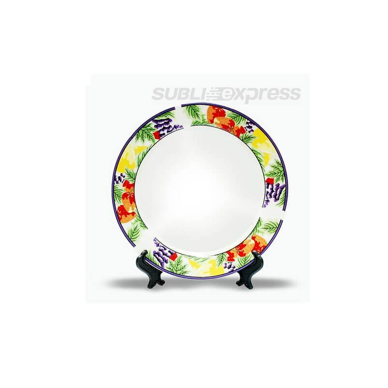 18 cm-es szublimációs tányér állvánnyal