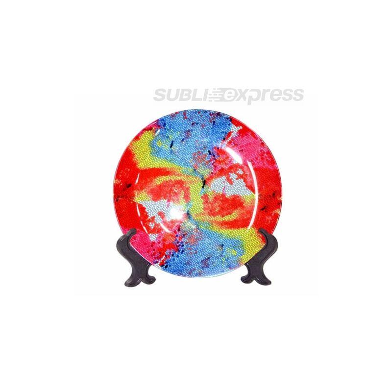 27 cm-es szublimációs tányér állvánnyal