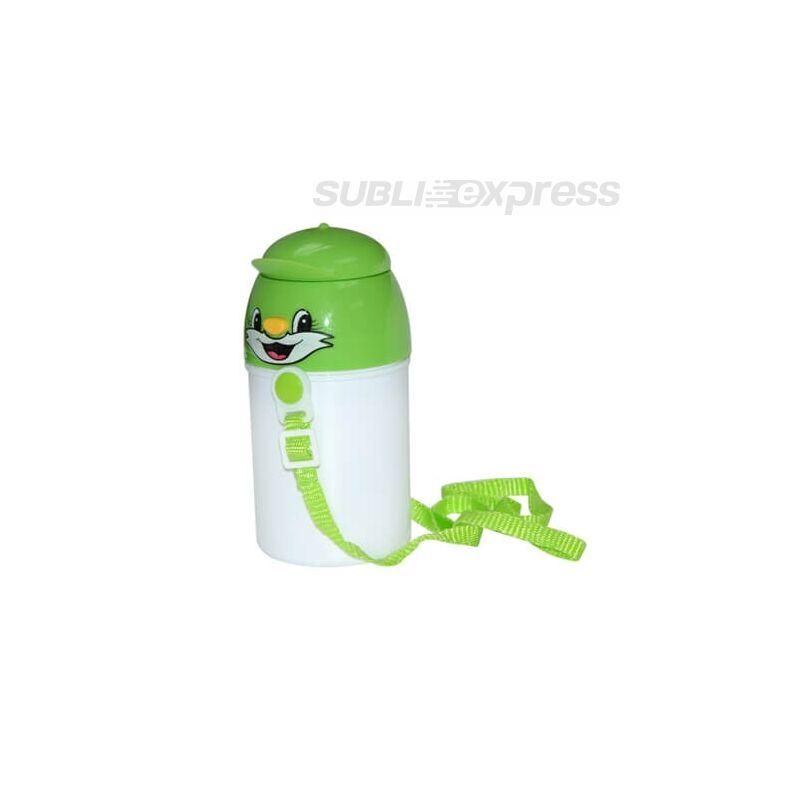 Szublimációs gyerek kulacs zöld