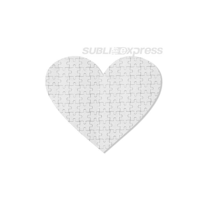 19 x 18 cm szublimációs puzzle 76 darabos szív alakú