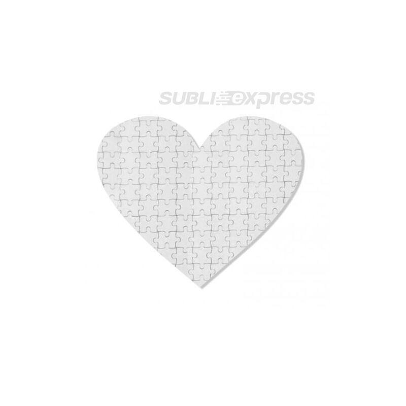 19,5 x 19,5 cm szublimációs mágneses puzzle 75 darabos szív alakú