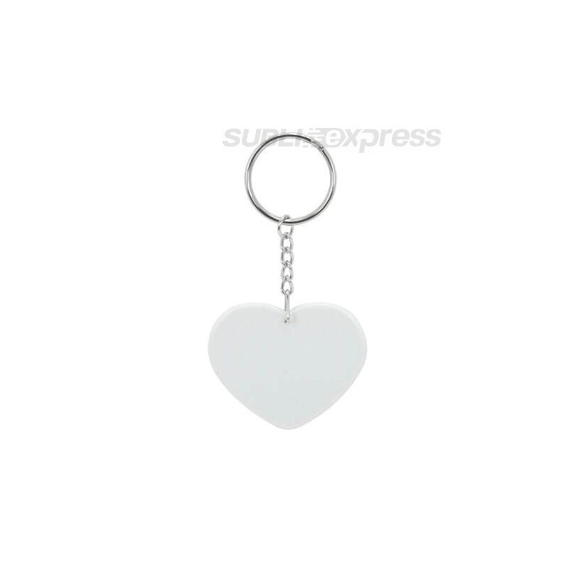Szublimációs műanyag kulcstartó szív alakú