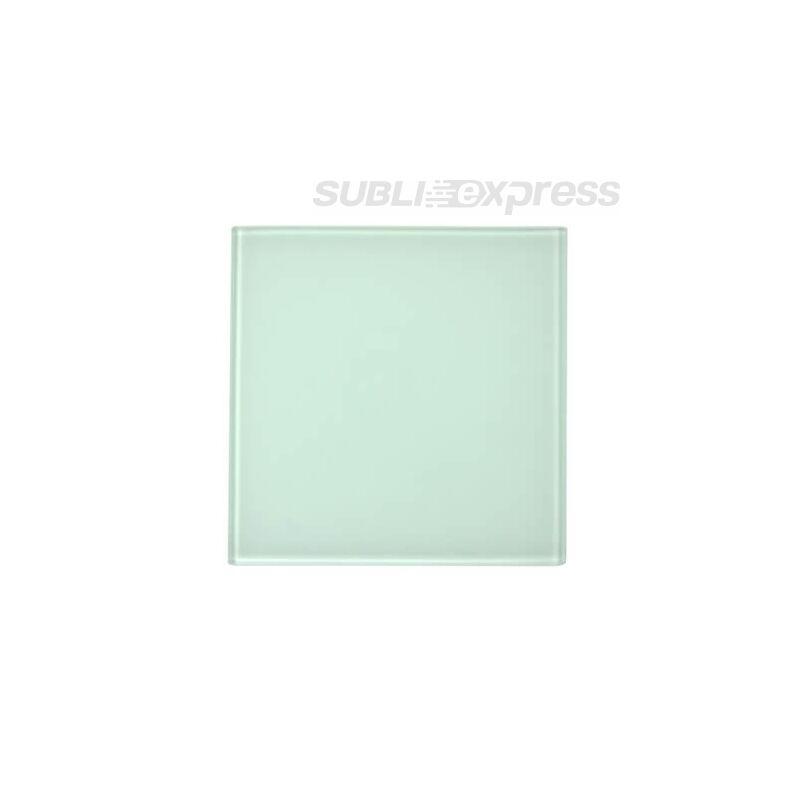 10 x 10 cm-es szublimációs üveg alátét négyzet alakú
