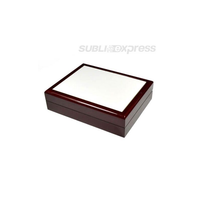 Fa doboz 20 x 15 cm-es szublimációs kerámiacsempével