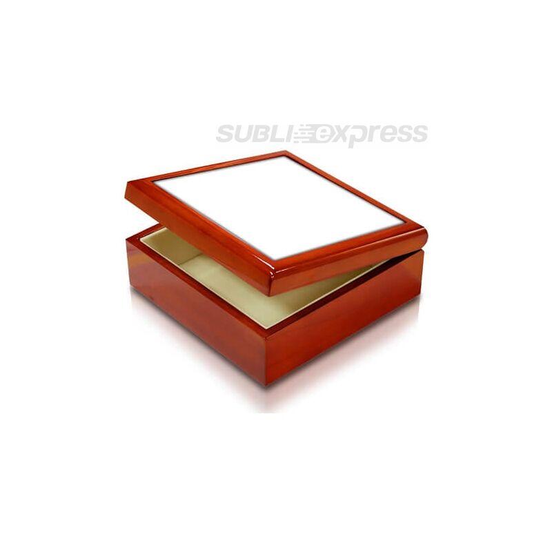 Fa doboz 11 x 11 cm-es szublimációs kerámiacsempével