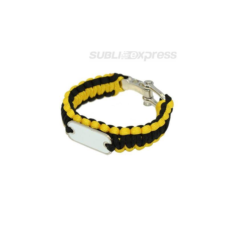 Szublimációs karkötő paracord sárga-fekete