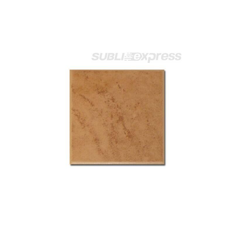 10 x 10 cm-es szublimációs kerámia csempe fényes barna strukturális
