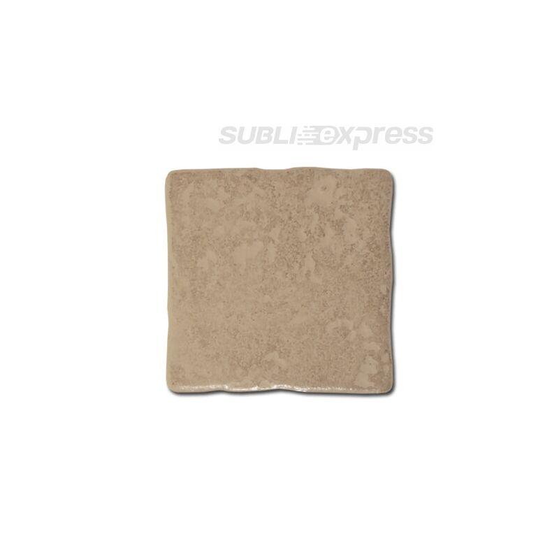 10 x 10 cm-es szublimációs kerámia csempe vésett fényes barna