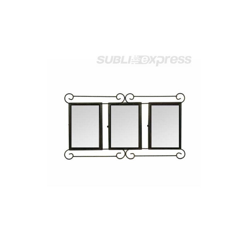 34 x 21 cm-es szublimációs fém képkeret három ablakos bronzírozott