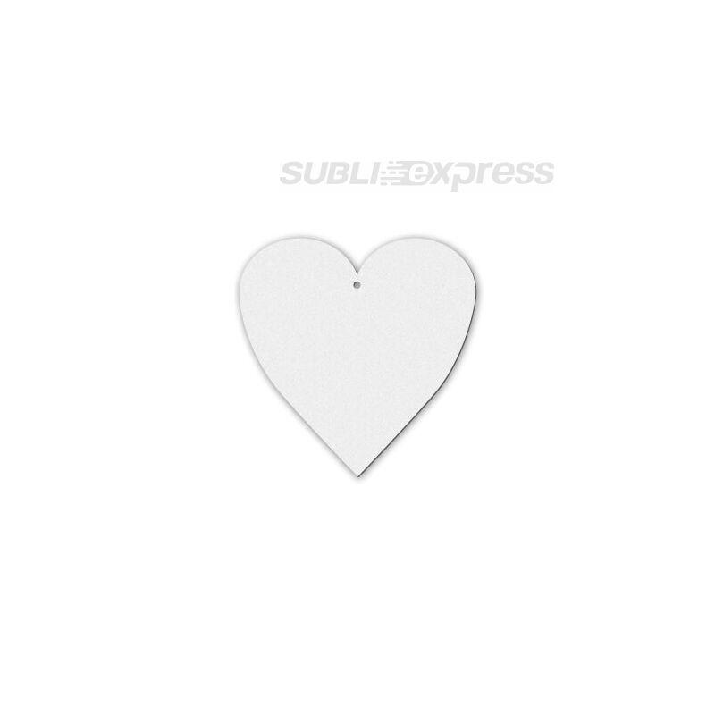 Szublimációs filc dísz szív alakú