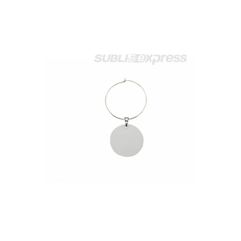 Szublimációs gyűrű borospohárra kör alakú lemezzel