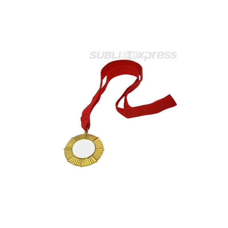 Szublimációs érem 6cm átmérővel, 3,2cm nyomtatási felülettel arany