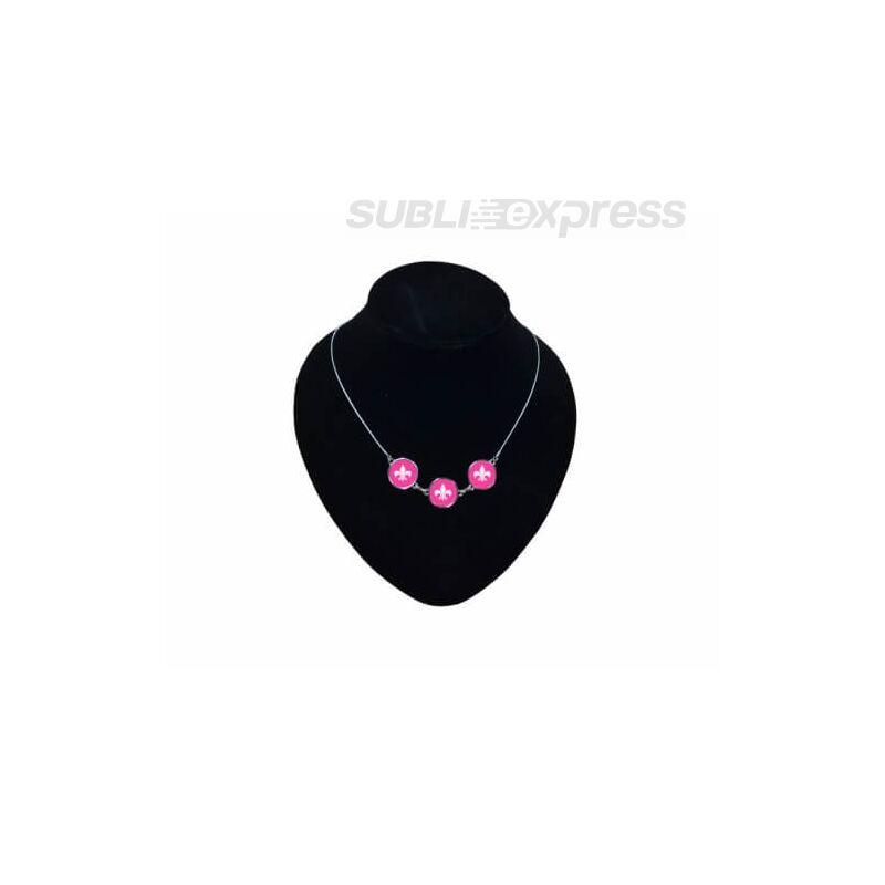 Szublimációs fém nyaklánc három kör alakú medállal