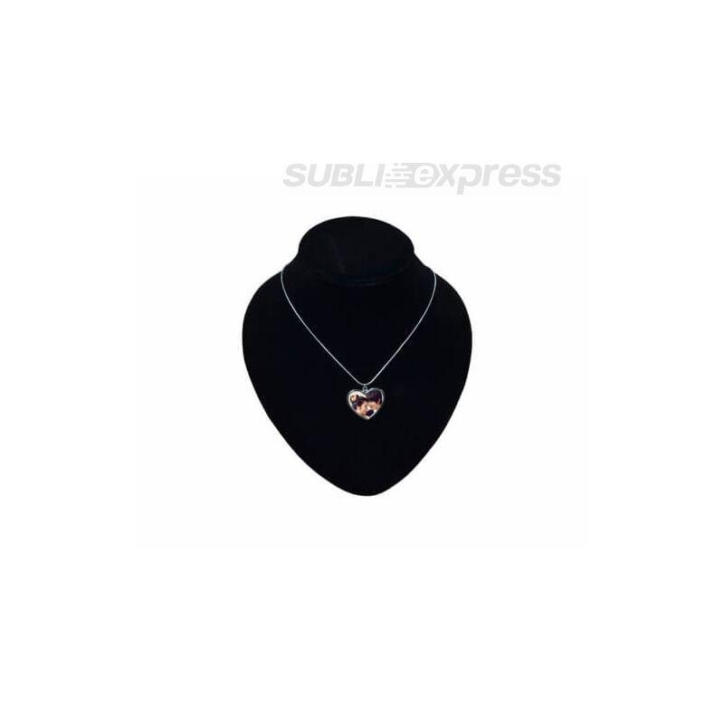 Szublimációs fém nyaklánc szív alakú medállal