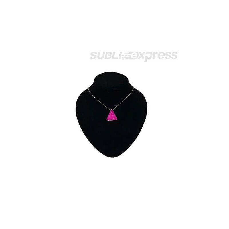 Szublimációs fém nyaklánc háromszög alakú medállal