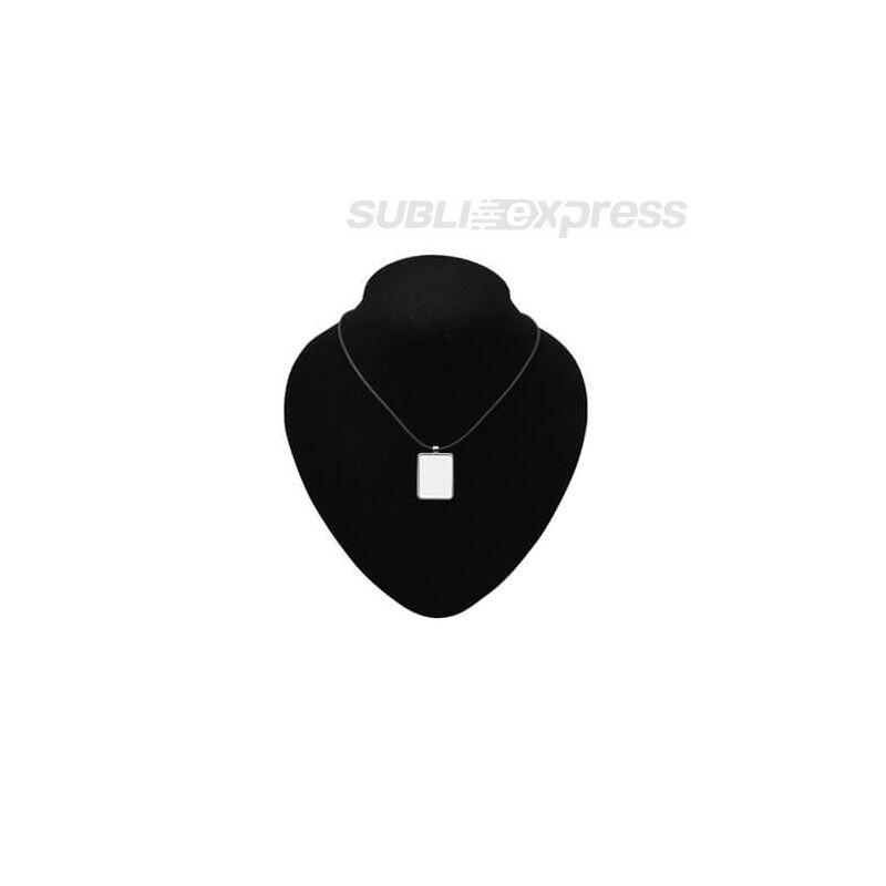 Szublimációs nyaklánc szögletes medállal és gumiszíjjal