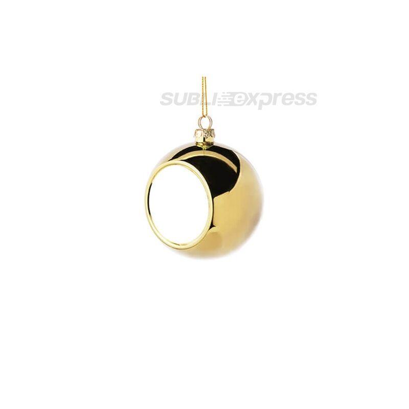 Szublimációs karácsonyfa gömb 6 cm átmérőjű arany színű
