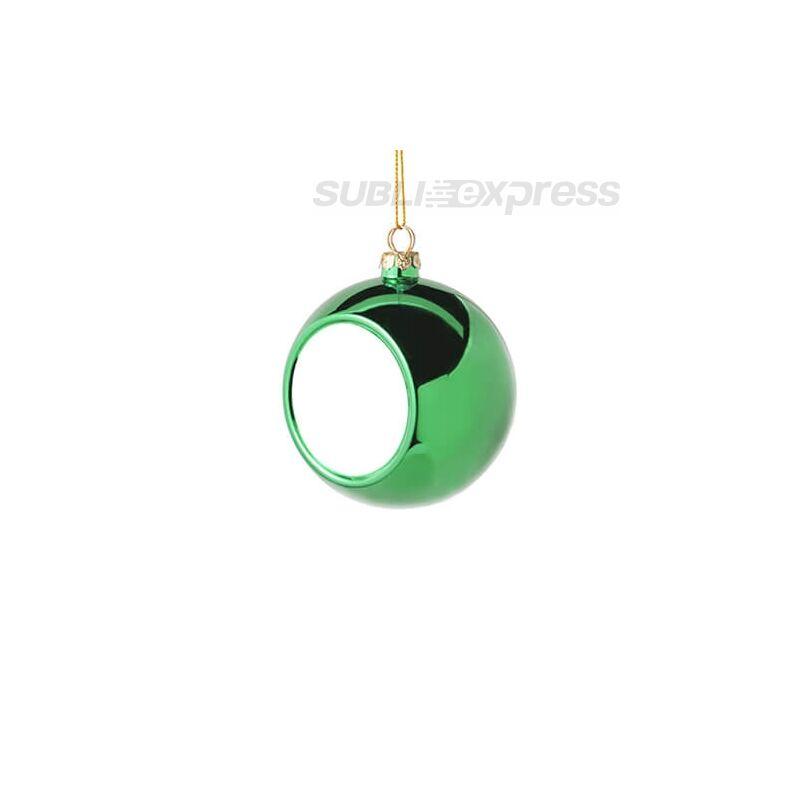 Szublimációs karácsonyfa gömb 6 cm átmérőjű zöld színű