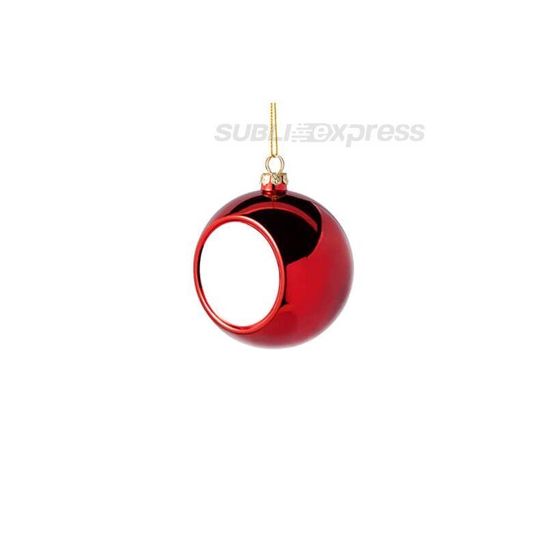 Szublimációs karácsonyfa gömb 6 cm átmérőjű piros színű