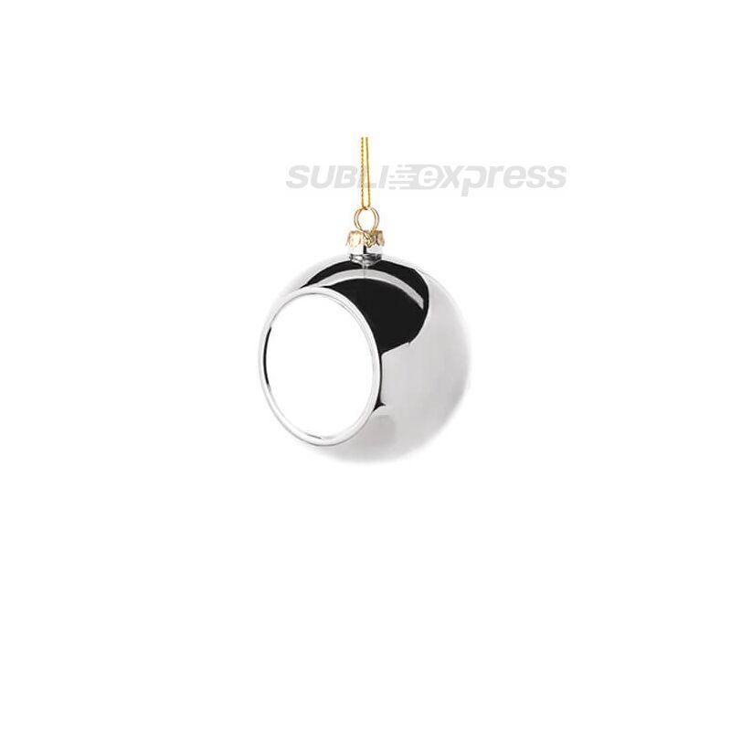 Szublimációs karácsonyfa gömb 6 cm átmérőjű ezüst színű